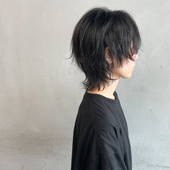 ウルフカット ショート ストリート マッシュウルフ ヘアスタイルや髪型の写真・画像