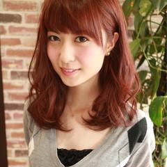 ガーリー 大人かわいい フェミニン ミディアム ヘアスタイルや髪型の写真・画像