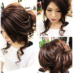 涼しげ セミロング フェミニン 夏 ヘアスタイルや髪型の写真・画像
