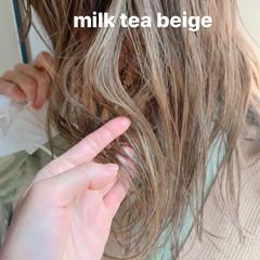 ダブルカラー 簡単ヘアアレンジ ヘアアレンジ ガーリー ヘアスタイルや髪型の写真・画像