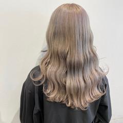 韓国風ヘアー 韓国 ミルクティーベージュ ロング ヘアスタイルや髪型の写真・画像