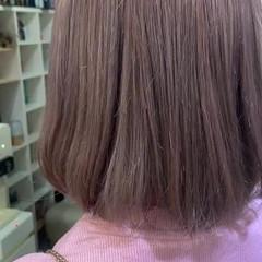 切りっぱなしボブ ナチュラル 大人かわいい ミニボブ ヘアスタイルや髪型の写真・画像