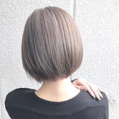 ニュアンス ボブ 大人女子 アッシュ ヘアスタイルや髪型の写真・画像