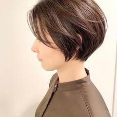 ショートヘア ショート デート ナチュラル ヘアスタイルや髪型の写真・画像