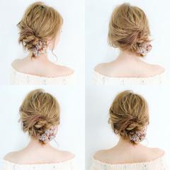 女子会 簡単ヘアアレンジ リラックス オフィス ヘアスタイルや髪型の写真・画像