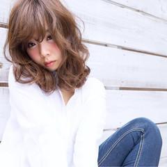 大人かわいい ふわふわ 大人女子 ミディアム ヘアスタイルや髪型の写真・画像