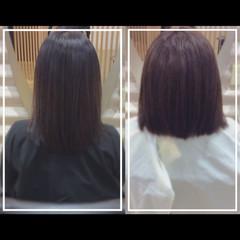 髪質改善カラー セミロング ハイトーンカラー 髪質改善トリートメント ヘアスタイルや髪型の写真・画像