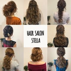 セミロング ポニーテール ヘアセット フェミニン ヘアスタイルや髪型の写真・画像
