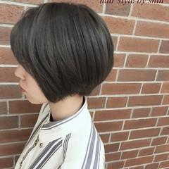ショート ハイライト ナチュラル ミルクティー ヘアスタイルや髪型の写真・画像