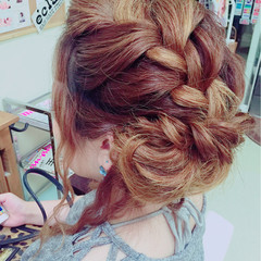 アップスタイル ヘアアレンジ ロング エクステ ヘアスタイルや髪型の写真・画像