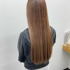ロング 髪質改善トリートメント 髪質改善カラー ベージュ ヘアスタイルや髪型の写真・画像