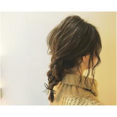 ルーズ アップスタイル 簡単ヘアアレンジ ショート ヘアスタイルや髪型の写真・画像