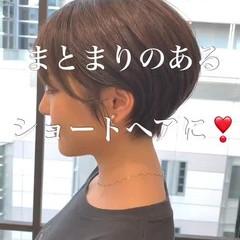 ショートヘア ショート 簡単スタイリング ショートボブ ヘアスタイルや髪型の写真・画像