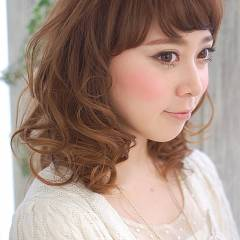 ミディアム フェミニン コンサバ モテ髪 ヘアスタイルや髪型の写真・画像