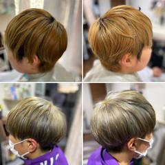 メンズカット メンズショート ストリート オリーブグレージュ ヘアスタイルや髪型の写真・画像