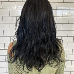 モード ブルージュ ネイビーブルー 地毛風カラー ヘアスタイルや髪型の写真・画像