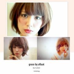 愛され モテ髪 ナチュラル ショート ヘアスタイルや髪型の写真・画像
