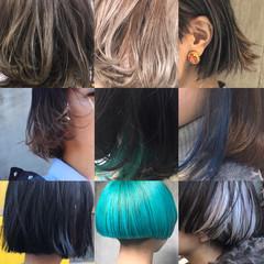 モード ニュアンス ボブ アッシュ ヘアスタイルや髪型の写真・画像