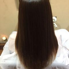 ナチュラル ストレート パーマ 艶髪 ヘアスタイルや髪型の写真・画像