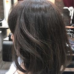 ナチュラル ボブ アッシュ 色気 ヘアスタイルや髪型の写真・画像