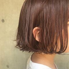 涼しげ ヘアアレンジ アウトドア ボブ ヘアスタイルや髪型の写真・画像