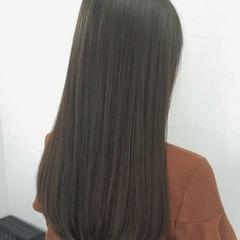 イルミナカラー アッシュ コンサバ 暗髪 ヘアスタイルや髪型の写真・画像