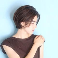 ベリーショート エレガント ショートヘア ショート ヘアスタイルや髪型の写真・画像