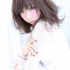 ミディアム 大人かわいい ゆるふわ かわいい ヘアスタイルや髪型の写真・画像