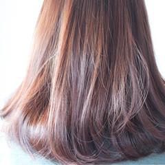 ラベンダー ナチュラル ラベンダーピンク グレージュ ヘアスタイルや髪型の写真・画像