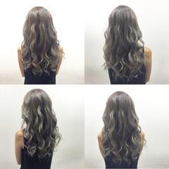 ストリート 秋 ハイライト アッシュ ヘアスタイルや髪型の写真・画像