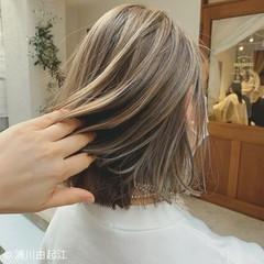 フェミニン 春ヘア アンニュイほつれヘア ボブ ヘアスタイルや髪型の写真・画像