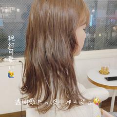 圧倒的透明感 ミディアム ナチュラル 透明感カラー ヘアスタイルや髪型の写真・画像
