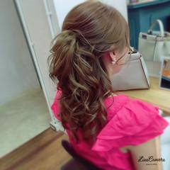 ミディアム ゆるふわ ヘアアレンジ 巻き髪 ヘアスタイルや髪型の写真・画像