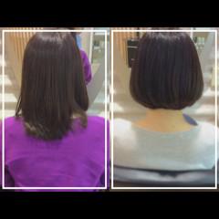 艶髪 大人ヘアスタイル ナチュラル ミディアム ヘアスタイルや髪型の写真・画像