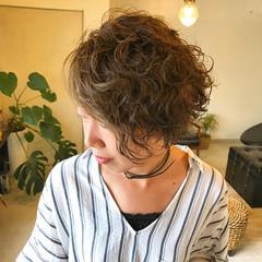 外ハネ ボブ かっこいい パーマ ヘアスタイルや髪型の写真・画像