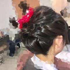 ヘアアレンジ 着物 フェミニン アップスタイル ヘアスタイルや髪型の写真・画像