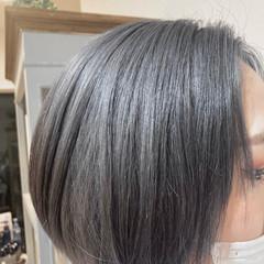 ナチュラル ハイトーン ショート ハイトーンカラー ヘアスタイルや髪型の写真・画像