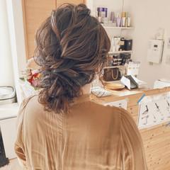 ヘアアレンジ 簡単ヘアアレンジ お呼ばれヘア セミロング ヘアスタイルや髪型の写真・画像
