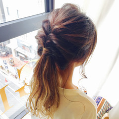 簡単ヘアアレンジ ヘアアレンジ デート ガーリー ヘアスタイルや髪型の写真・画像