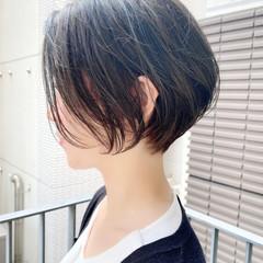 ナチュラル オフィス ベリーショート 大人かわいい ヘアスタイルや髪型の写真・画像