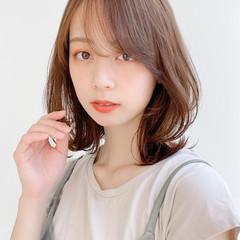 外ハネ モテ髪 デート ミディアム ヘアスタイルや髪型の写真・画像