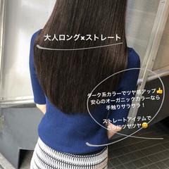 ストレート 大人女子 大人かわいい ロング ヘアスタイルや髪型の写真・画像