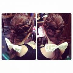 ヘアアレンジ コンサバ 結婚式 愛され ヘアスタイルや髪型の写真・画像