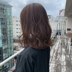 ミディアム グラデーションカラー バレイヤージュ 大人可愛い ヘアスタイルや髪型の写真・画像