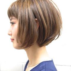 大人かわいい 大人女子 ナチュラル ボブ ヘアスタイルや髪型の写真・画像