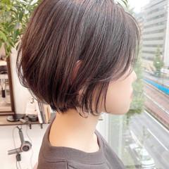 ナチュラル ショートヘア デート 大人かわいい ヘアスタイルや髪型の写真・画像