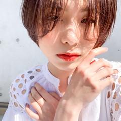 ショートボブ モード 前髪 ショート ヘアスタイルや髪型の写真・画像