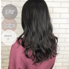 ダークグレー ナチュラル 透け感ヘア グレージュ ヘアスタイルや髪型の写真・画像