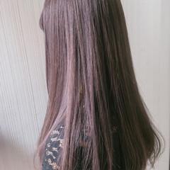 ミディアム ガーリー ベージュ ピンク ヘアスタイルや髪型の写真・画像