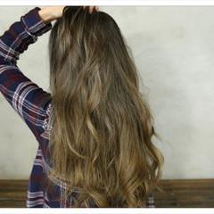上品 ロング 外国人風カラー ハイライト ヘアスタイルや髪型の写真・画像